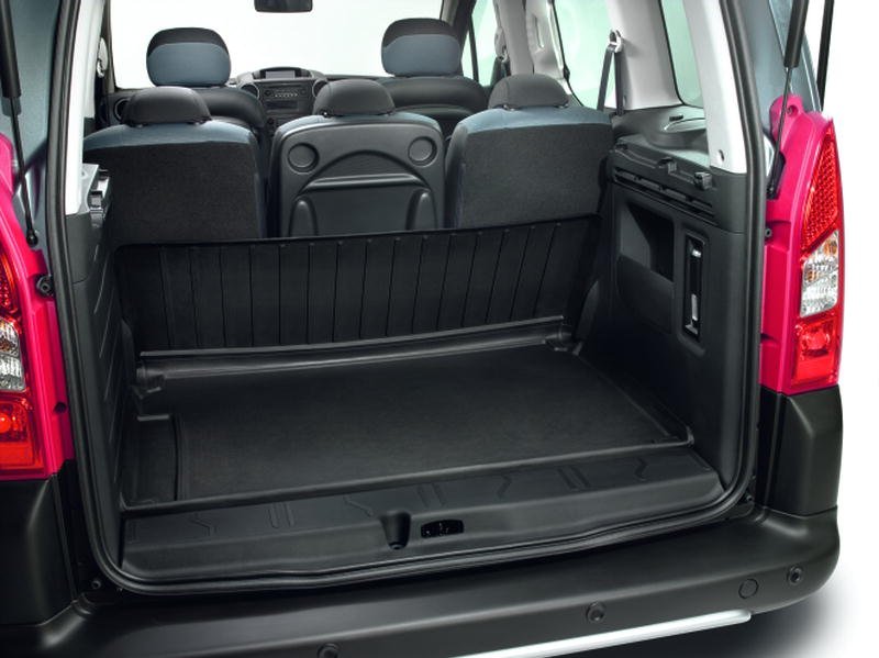LUGGAGE COMPARTMENT TRAY hinged thermoformed