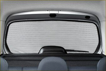SUNBLIND for fixed rear window glass